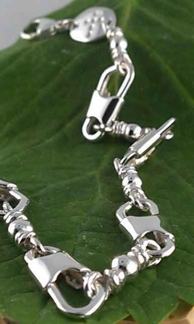 "ACTS Bracelet Sterling Silver Fishers Of Men by ACTSJEWELRY, $85.00  Amazing quality in this handmade bracelet!  I attended the ""Walk to Emmaus"" and it is the perfect remembrance of that unforgettable weekend in Kerrville!"