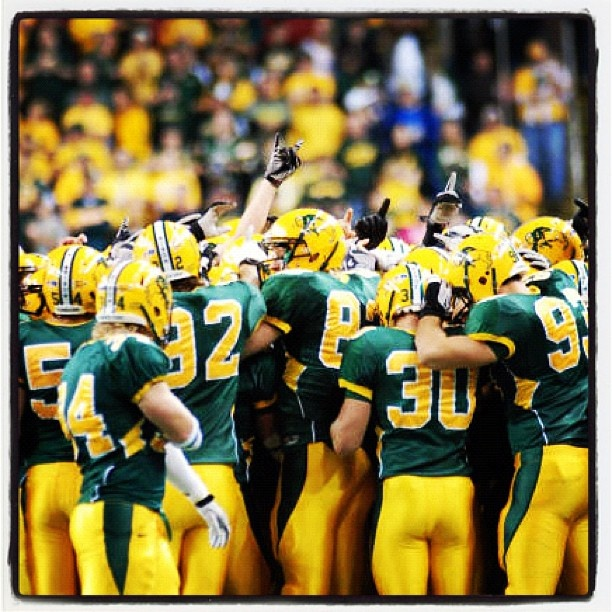 NDSU Bison Football, back to back national champs! Need to make it to a few games fhis fall!