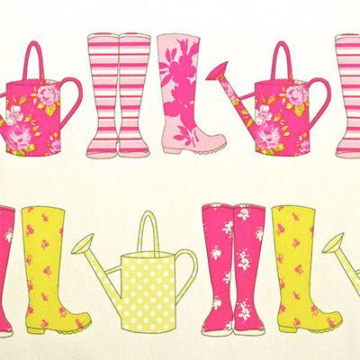 Elsie Wellington Boots Fabric