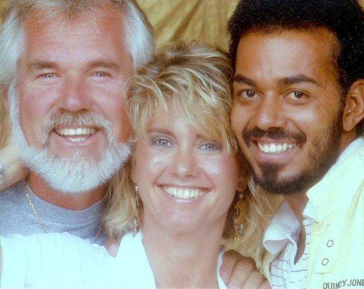 Olivia Newton-John with Kenny Rogers and James Ingram http://olivianewton-john.net/