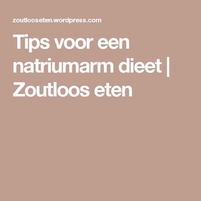 Tips voor een natriumarm dieet   Zoutloos eten