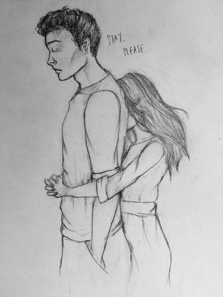 Рисованные карандашом картинки девушки с парнем