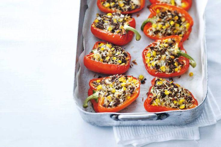 Gevulde paprika's - Recept - Allerhande. Voor airfryer 20 graden minder, tijd even checken