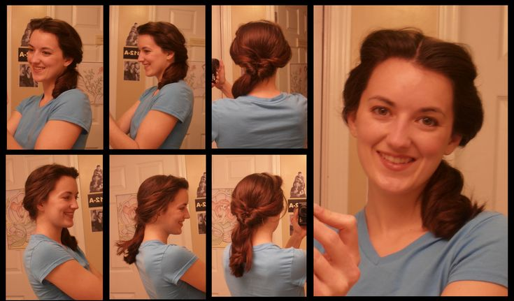 Belle's Day Hair  This chick has instructions on how to do like all the hairstyles of all the princesses.