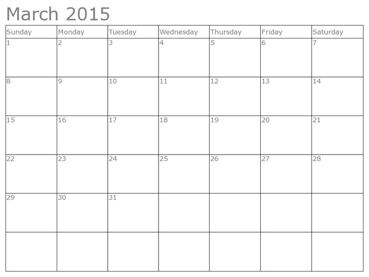 24 Best March 2015 Calendar Images On Pinterest | 2015 Calendar