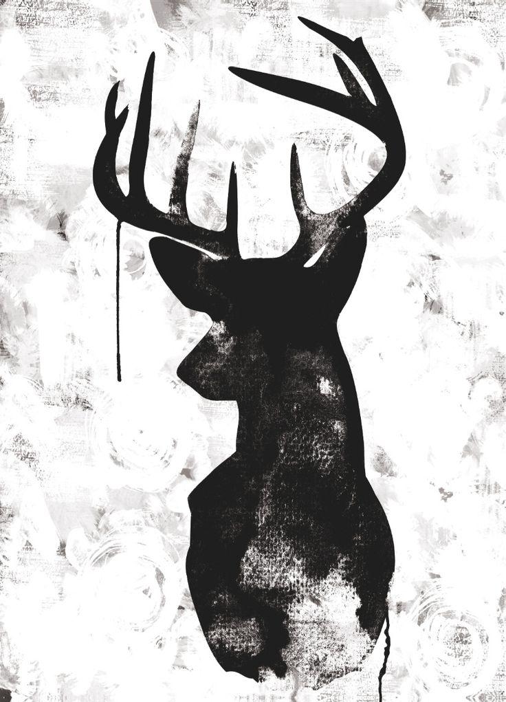 Oh Deer – White/Black