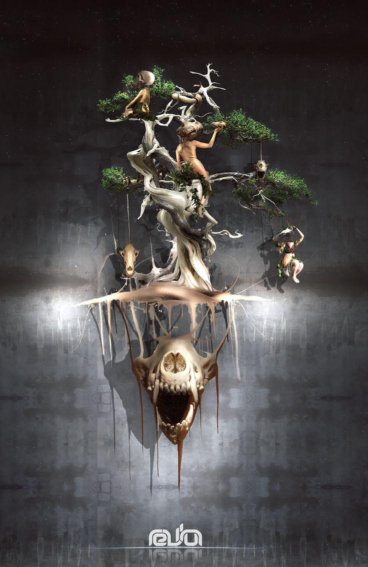 Death tree - Matteo Della Chiesa. https://www.behance.net/matteodellachiesa