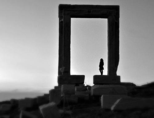 Portara , Naxos island  --- Modern Day by Nikos Golfis