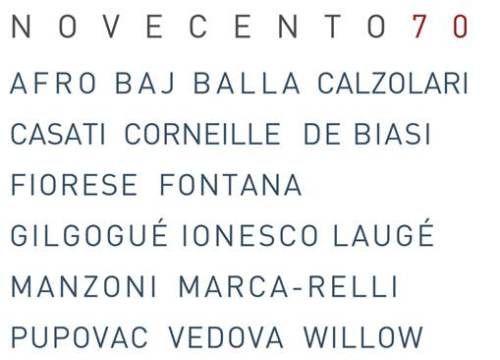 Novecento 70 @ Galleria 70, Milano