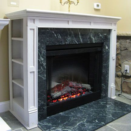 10 best images about diy on pinterest corner electric for Building a corner fireplace