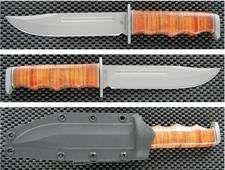 Couteau Bowie Tactical Browning Black Label Point Chasse Rando Acier 440 Manche Cuir Etui Zytel BR112BL - Livraison Gratuite Couteaux BROWNING