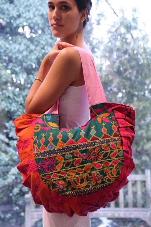 A beautiful Kutch embroidered tote bag