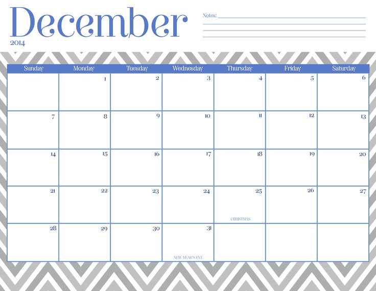 Cute December 2015 Calendar