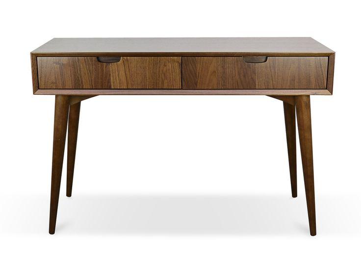 Johansen Scandinavian Console Table with Drawers – Walnut