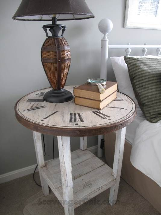 Best 20 clock table ideas on pinterest small round side for Diy flea market projects
