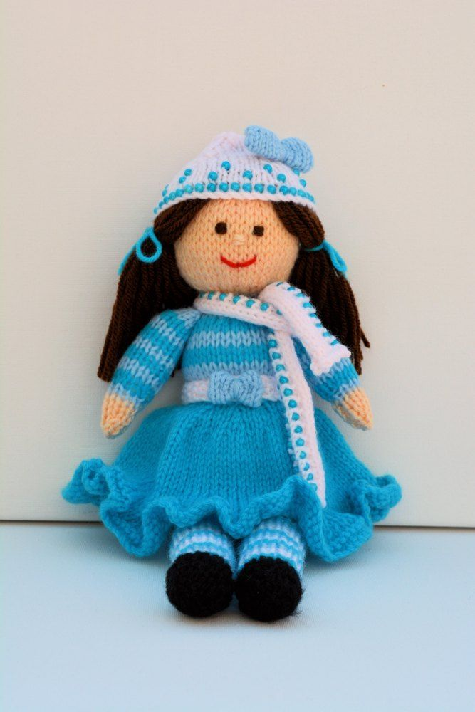 Mejores 27 imágenes de Knitted Doll Patterns en Pinterest | Muñecos ...