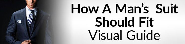 How A Man�s Suit Should Fit   Visual Suit Fit Guide   Proper Fitting Suits Chart