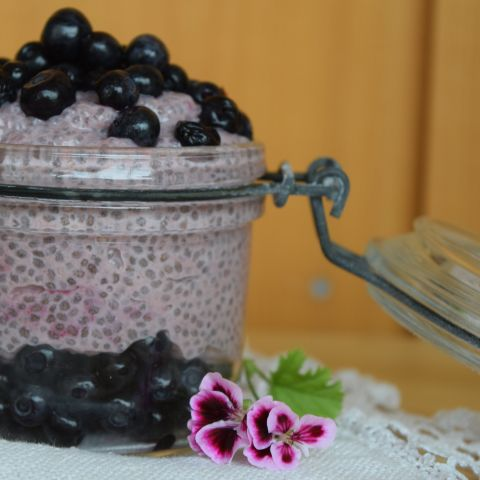 PINK CHIA PUDDING Every girl's dream breakfast - pink chia pudding. The colour comes from organic lingonberry powder full of antioxidants.