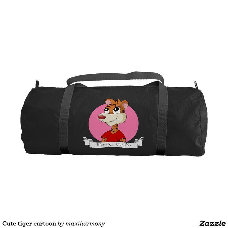 Cute tiger cartoon gym duffel bag