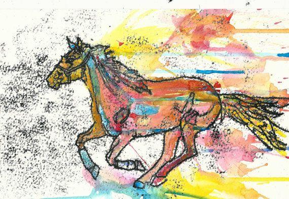 Horse Illustration by RowanLeckie on Etsy, £25.00