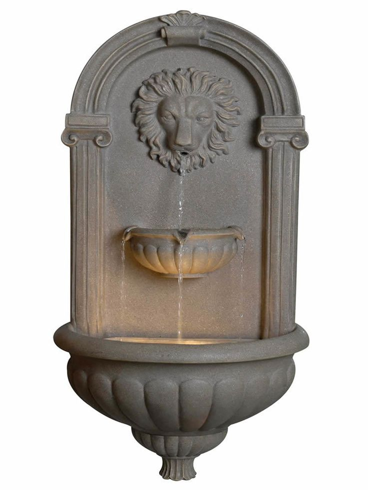 Imperial Lion Wall Fountain - Garden Fountains & Outdoor Decor