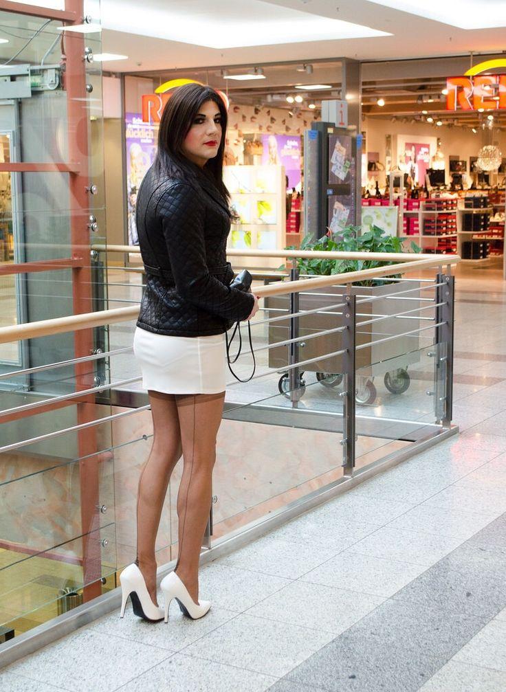 Crossdressing in public videos white body
