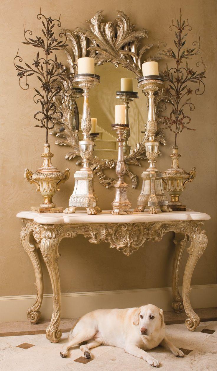 Table: Interior, Candles Mirror, Decor Ideas, Decor Foyers, Things, Decoration Ideas, Candles Candlemaking