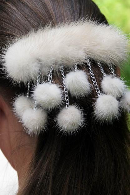 Аксессуары для волос из меха своими руками