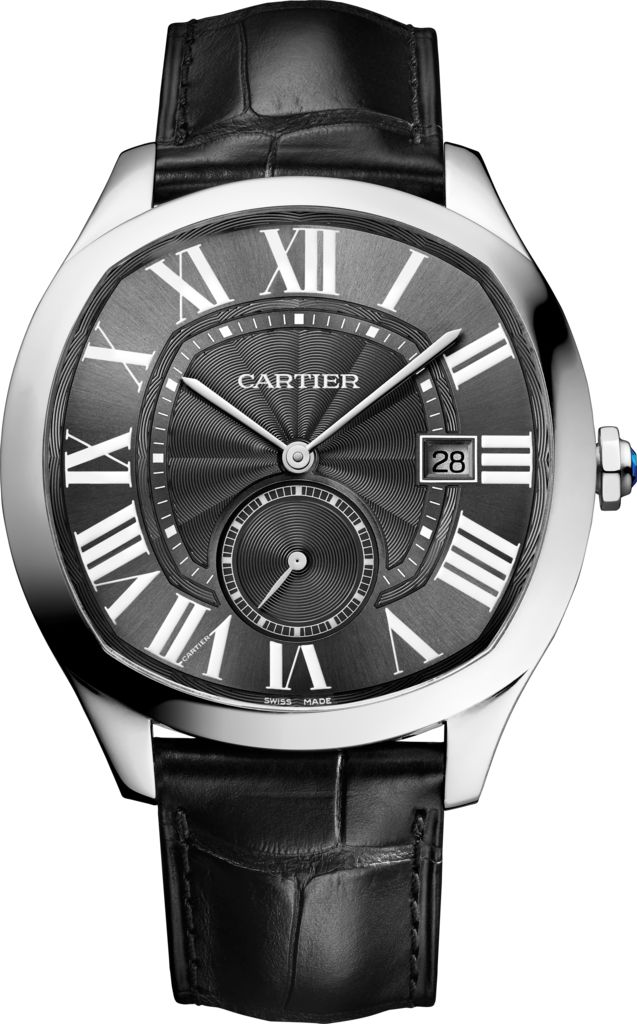 Drive de Cartier watch Steel, leather http://www.thesterlingsilver.com/product/hamilton-pan-europ-auto-h35405741/ http://www.thesterlingsilver.com/product/rotary-mens-automatic-watch-with-black-dial-analogue-display-and-black-leather-strap-gs0065919/