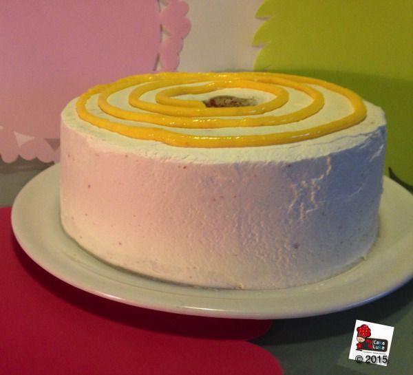 Angel food cake - Lemon curd