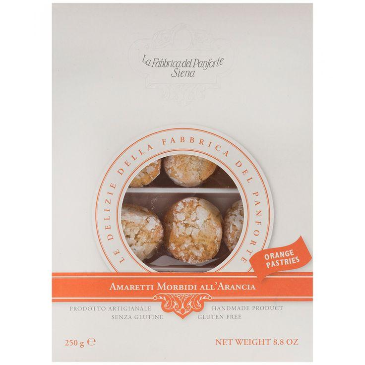Galletas elaboradas con azúcar almendras dulces almendras amargas 42% cáscara de naranja confitada 10% clara de huevo flores de naranja miel gasificante y conservante ácido ascórbico. Contiene huevo y almendras. Libre de gluten.