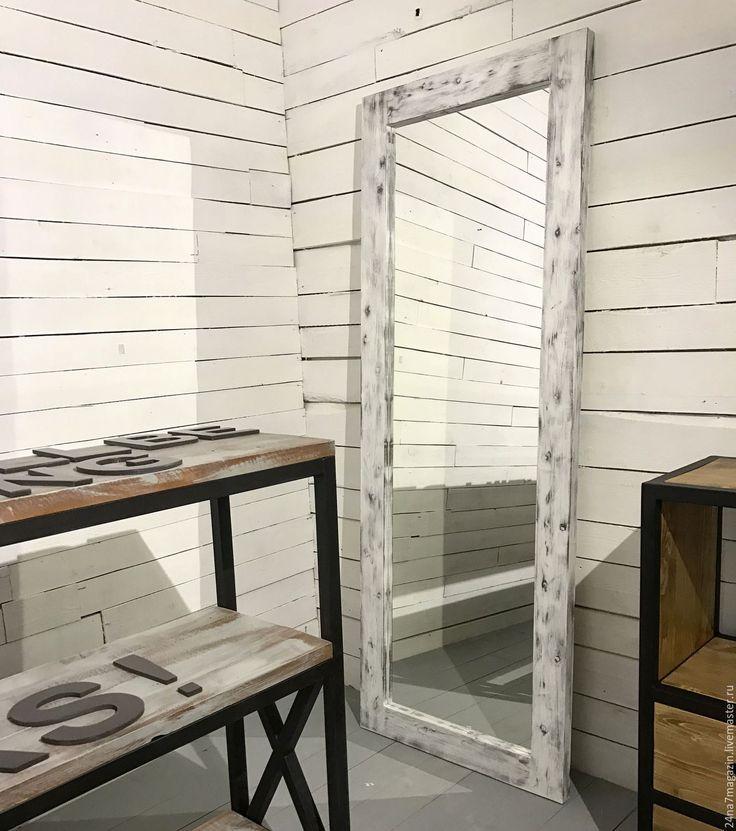 Купить Зеркало EMPOWER. - комбинированный, застаренное зеркало, состаренное зеркало, зеркало, зеркало белое