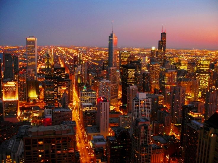 Sunset on Chicago's Loop, Chicago, Illinois