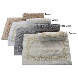 Laura Ashley Ribbon 2-piece Bath Rug Set - Overstock™ Shopping - The Best Prices on Laura Ashley Bath Rugs
