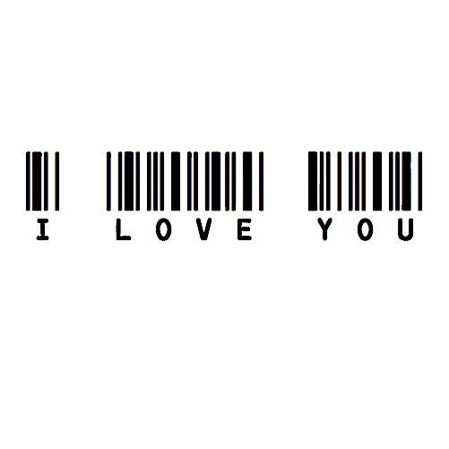 i love you barcode tee - what a fun idea!