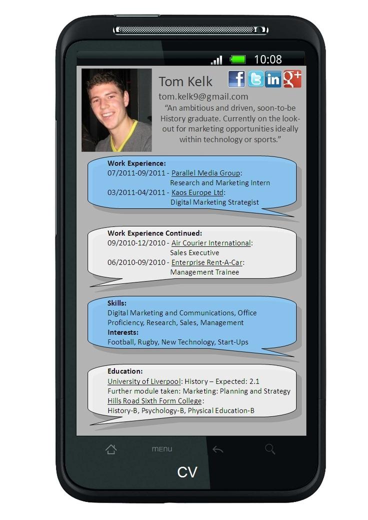 My creative CV... #jobhunting