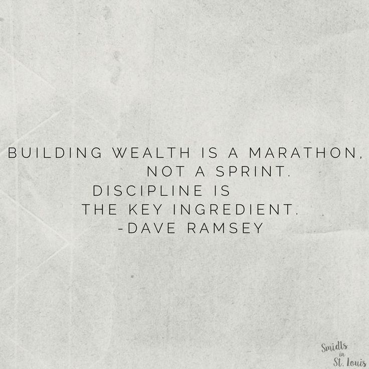 building wealth is a marathon //  Dave Ramsey Financial Peace University
