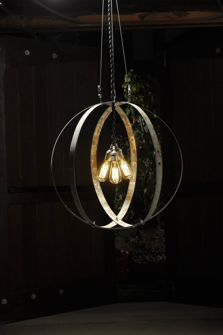 Wine Barrel Hoop Chandelier Totally Making This Out Of