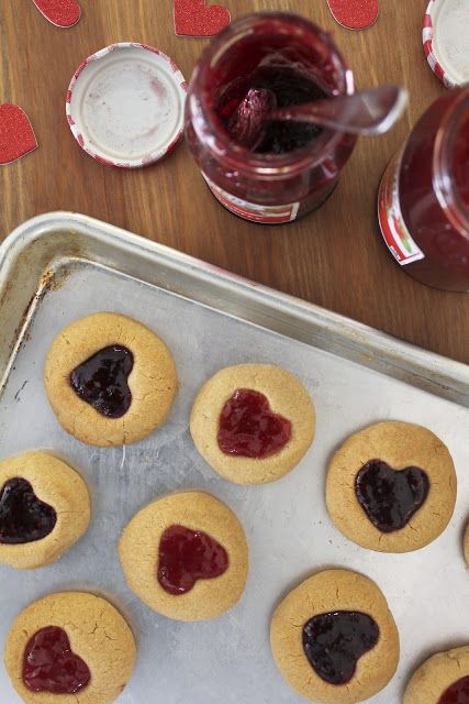 Life Made Simple: Peanut Butter and Jelly Thumbprint Cookies