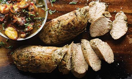 Clove story: Yotam Ottolenghi's recipes for pork tenderloin with caramelised garlic, plus roasted figs with pomegranate molasses