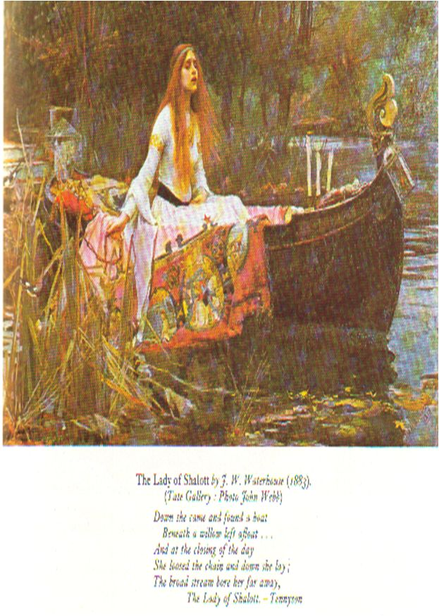 The Lady of Shalott - Elaine of Astolat, the inspiration behind the beautiful poem by Alfred, Lord Tennyson.