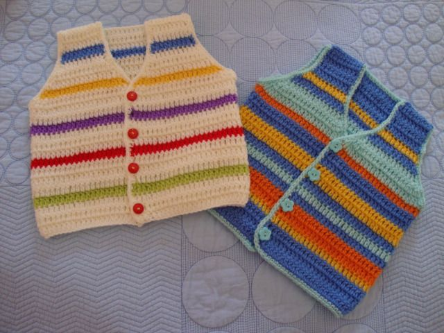 Baby vest and tutorial..  Aren't they cute for a baby boy!!