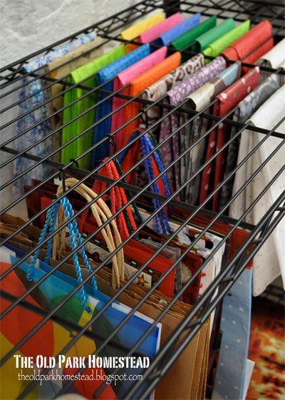 gift wrapping organization 45 Simple, Creative DIY Spring Organizing Ideas br /  A Crate and Barrel Giveaway!