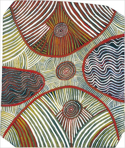 """Water Dreaming,"" 1972, by Mick Namararri Tjapaltjarri Photo: Grey Art Gallery"