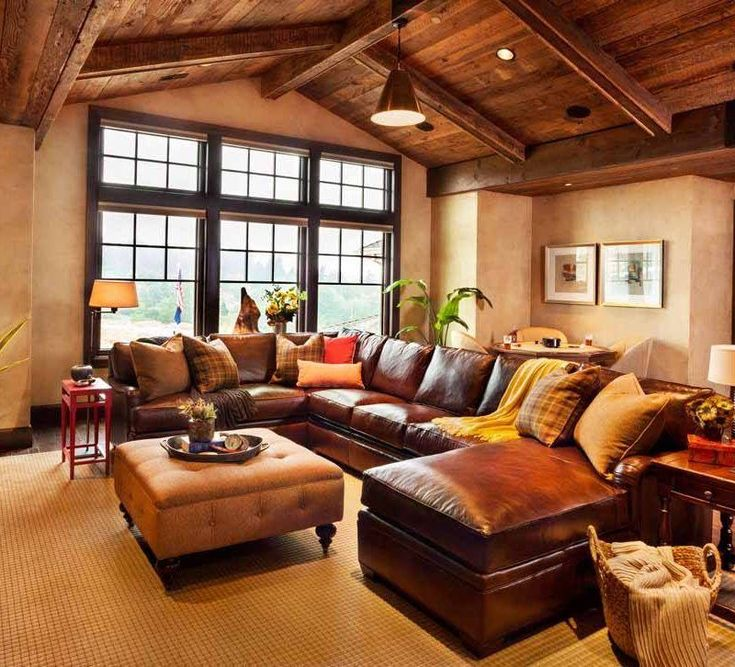 Frantic Brown Lear Couch In Living Room Part 89
