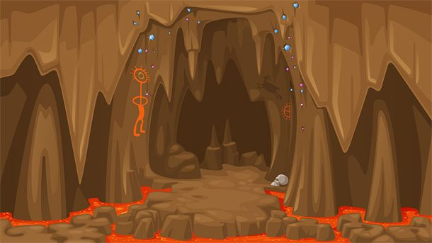 Cave background for a game