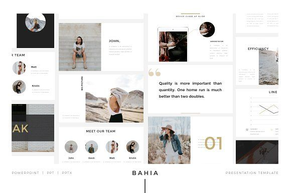 BAHIA Powerpoint Presentation - gives your business a style boost with its modern look. #powerpoint #presentation #slide $20
