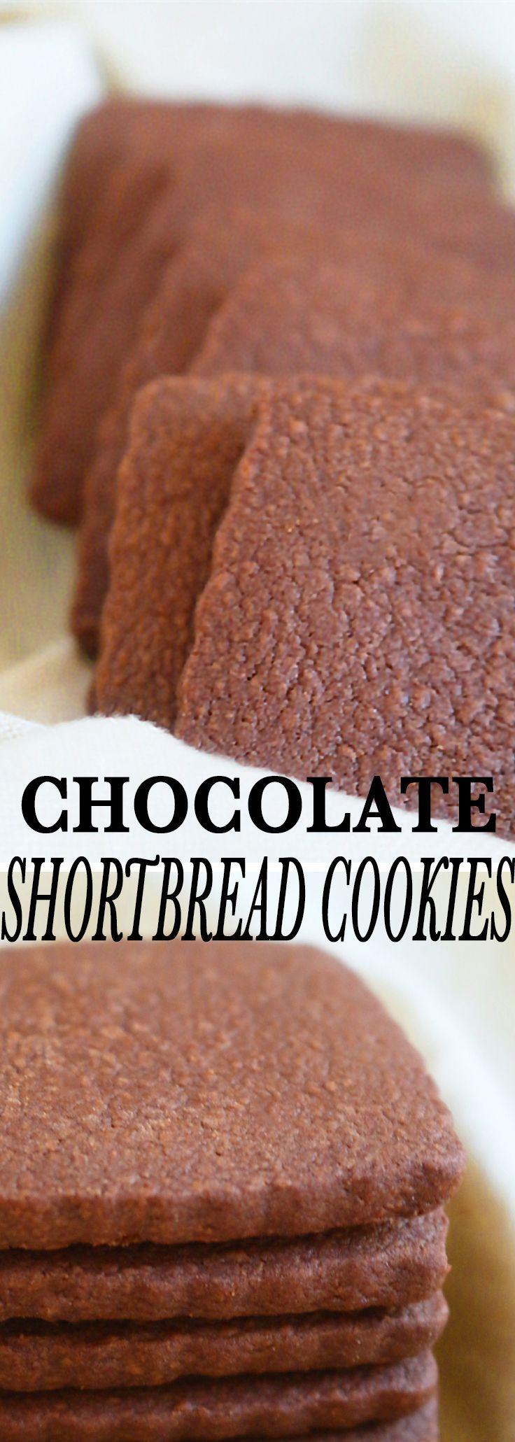 Chocolate Shortbread Cookies | Kitchen @ Hoskins