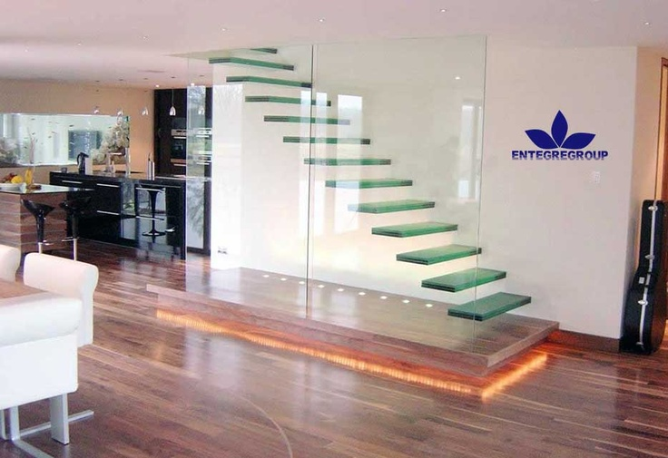 Merdiven temizliğiFloating Stairs, Staircas Design, Staircases Design, Home Interiors Design, Stairs Decor, Glasses Stairs, Small Spaces, Modern Home, Floating Staircases