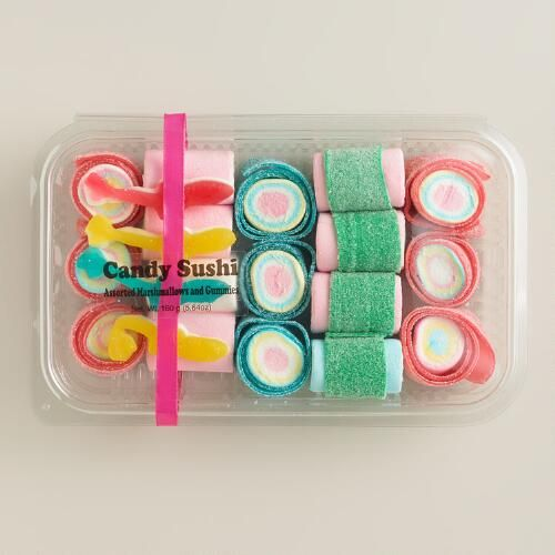 One of my favorite discoveries at WorldMarket.com: Sweet People Gummy Candy Sushi Set of 3